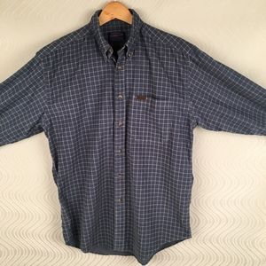 Pendleton Blue/White Corduroy Button Down Shirt, M